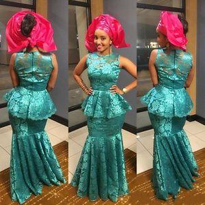 Arabia Style Evening Dresses 2019 Sheer Neck Sleevelss Satin Mermaid Dubai Prom Gown Zipper Back Floor Length Formal Evening Dress