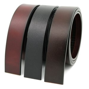 Fashion Mens Belts Not include Belt Head Real Cow Leather Stripe Black Coffee Brown Three Colors By Free Shipping