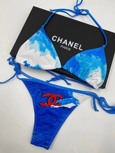 Новый бренд дизайнер мода Купальники бикини Установить для женщин Письма Push-Up Купальника бинты Sexy купального костюма 2020 Качества также