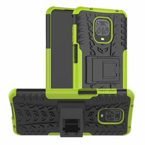 Гибридные случаи телефона для Xiaomi реого Примечания 9 Pro Max Hard Case Soft Skin Доспех защиты стенд Silicon реого Примечание 9S 9С 10X Pro 5G Обложка