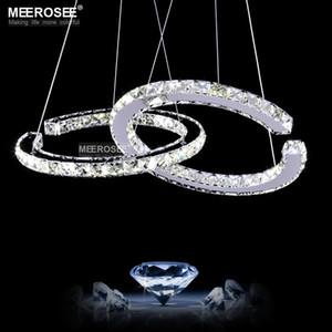 Moderne LED-Diamant-Anhänger Licht Leuchte LED Kristallleuchter-Beleuchtung Lustres Hängelampe für Esszimmer Wohnzimmer Schnelle Lieferung