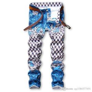 2020 Pantalon de luxe Designer Jeans Distressed Ripped Biker Jean Hommes Femmes Slim Fit Motard Denim Jeans Hip Hop Hommes Jeans Taille 29-38