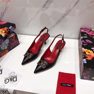2019 nuevas sandalias clásicas para mujer, sandalias de tacón con cuentas de cobre, sandalias para todos los días
