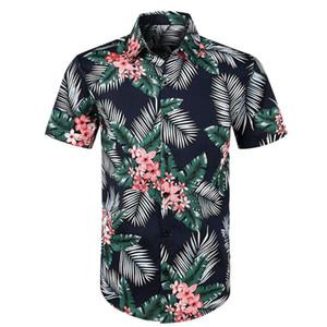 çiçek gömlek Erkekler Rasgele Baskılı Düğme Kısa Gömlek Hawaii gömleği Erkekler Bluz playeras de hombre Erkek giyim Ropa Tops