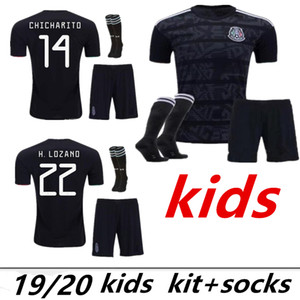 35 2019 Mexico soccer jersey kids kit Socks Gold Cup 19 20 Camisetas CHICHARITO H.LOZANO MARQUEZ HERRERA GUARDADO football shirt