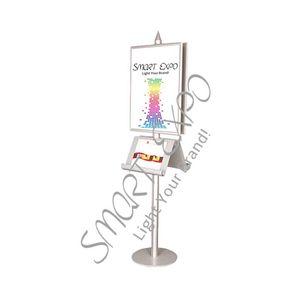 A3 Çelik Kitapçığı Sahipleri Firma Çelik Taban B2 Poster Kat Reklam Promosyon Poster Display Stand Düz Ambalaj Standı