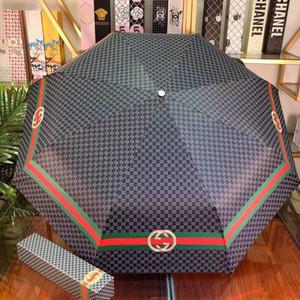 상자 여성과 남성의 접는 온 코스 우산 야외 UV 보호 방풍 자동 일 우산 선물로 고급 우산