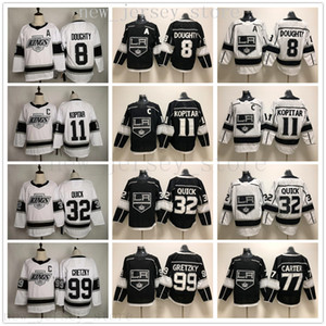 2020 Los Angeles Kings Hockey 8 Drew Doughty 11 Anze Kopitar 32 Jonathan Quick 77 Jeff Carter 99 Wayne Gretzky Jerseys Black White