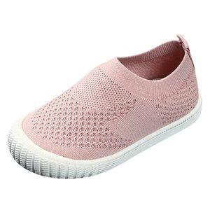 SAGACE Bebek Çocuk Kız Erkek Dokuma Nefes Mesh Seakers Spor Ayakkabı Bebek Çocuk Casual Yumuşak Düz Açık Ayakkabı Koşu Kayma-on