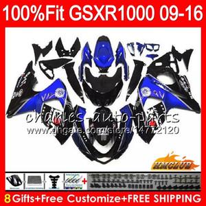 Einspritzung für SUZUKI GSXR 1000 GSXR-1000 09 10 11 2009 2010 2011 16HC.119 K9 GSXR1000 12 13 15 16 2012 2014 2015 2016 Verkleidungen blauschwarz