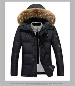 Herren Männer Dicke Mode Mantel Mit Kapuze Reißverschluss Solid Down Designer Farbe Winter Parkas PDSQA