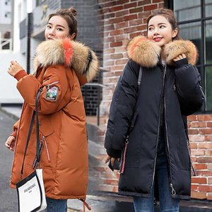 Girl's new parkas autumn winter thick warm cotton embroidery Bohemian style female long hooded zippers coat plus size 3XL
