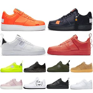 Nike Air force 1 one off white Utility Red 1 Dunk Casual Shoes Black White Just Orange Wheat Mujer Hombre Zapatillas de deporte High Low Cut Zapatillas deportivas