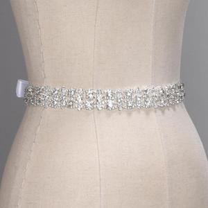 Cintos de casamento de cristal feitos à mão de prata dourada strass cinto de vestido de casamento acessórios formais de casamento faixa de fita cinto CPA1393