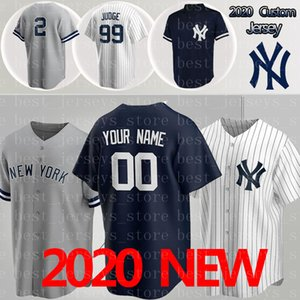 2020 Baseball Maglie 99 Aaron Giudice Yankees maglia 27 Giancarlo 2 Derek 24 Gary maglie 3 Babe Ruth 7 Mickey Mantle personalizzato Maglie