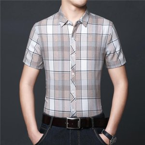 Top Selling Product In 2020 Summer Men's Lapel Short-sleeved Shirt New Fashion Youth Casual Wild Plaid Shirt Men's Clothing