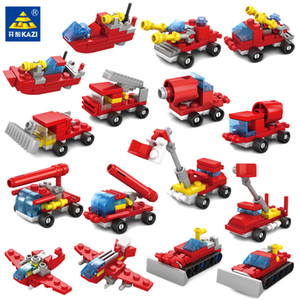 City Fire Lutando Conjuntos Conjuntos Kids Trucks Bricks Truck Figure Figuras Helicóptero Veículos 02 Blocos Barco Meninos Para Brinquedos Educatio KXCQ