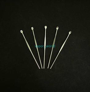 vape kalem silikon mat kap için kuru ot titanyum çivi için balmumu gör dabber araçları atomizör deposu paslanmaz çelik 80mm gör dabber kavanoz sigara aracı