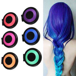 6 couleurs poudre de colorant de cheveux craie temporaire avec salon cheveux mascara crayons de couleur soins capillaires bricolage style