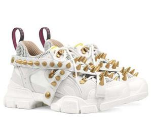 Spikes Flashtrek Sneaker mit Nieten Abnehmbarer Spikes Herrenschuhe Art und Weise der beiläufigen Frauen-Schuh-Turnschuhe Z5