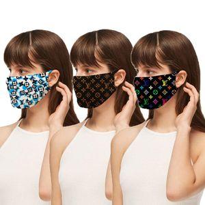Designer Maschera antipolvere ultravioletta a prova di Bocca-muffola faccia Donne Uomini Maschere di lusso Lettera Stampa Maschera Marca Protector lavabile Viso