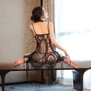 Neues Produkt Explosion High-End-Spitze Schlinge Nachthemd sexy Pyjama Persönlichkeit Rock verführerische Home Service Hersteller Direktvertrieb
