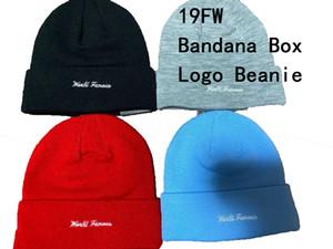 judyclothes supmaker 19FW Bandana insignia de la caja de Beanie Beanie sombrero par fría sombrero hecho punto sombrero de lana en stock