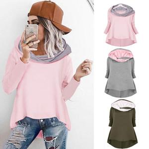 Irregolare della signora di alta qualità copre il colore puro Street Fashion irregolare Abbigliamento squisito con cappuccio New Style 23ydb Ww