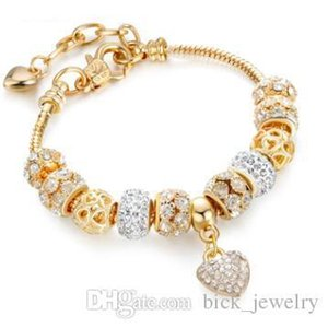 18 19 CM Luxury Women Designer Bracelets Charm Beads Silver Pandora Style Bracelets as Gift Wedding Jewelry Accessories Hot Sale