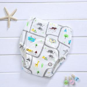 4Layers Reusable Waterproof Baby Potty Training Pants Cloth Diaper Panties Cloud Toddler Gauze Underwear Nappies (8Pcs)