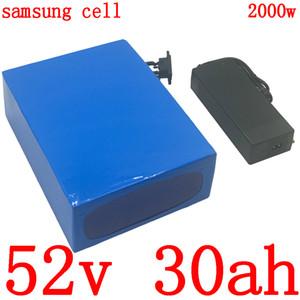 52V 30Ah Ebike батареи 52V литий аккумуляторная батарея 52V электрический самокат использование батареи 3000mah Samsung с 50A BMS и зарядное устройство 5А
