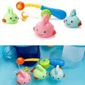4 Pièces Vivid Baby Fish Tout-petits enfants de faire semblant de pêche Jeux bain Natation Jouet développement de l'éducation préscolaire
