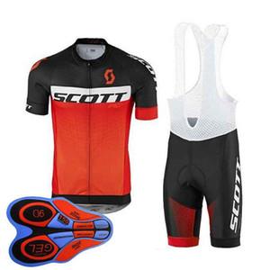 Scott 2018 Sıcak Pro Team Bisiklet Giyim Yol Bisikleti Yarış Giysileri Giymek hızlı Kuru Erkekler Bisiklet Forması Set Ropa Ciclismo Maillot 10407j