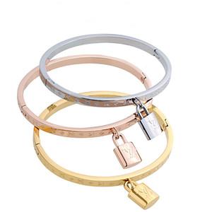 braccialetto delle donne dei monili di marca del progettista con le coppie in acciaio inox di alta qualità logo moda braccialetto in oro 18 carati placcato mai dissolvenza