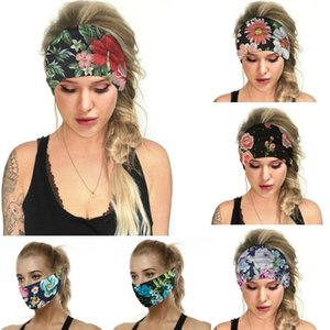 Multi-fonctionnel Visage Couverture Femmes Voyage Floral course pour homme Turban bandeau élastique hairband Boho headwraps Cute Girls Accessoires cheveux