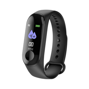 M3 Bluetooth Smart Bracelet Fitness Watch, Heart Rate Monitor, Step Counter Blood Pressure Waterproof Activity Tracker, Message Reminder, Sm