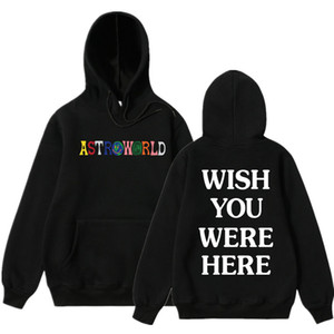 NEW Мужчины толстовки Трэвис Скотт AstroWorld Толстовка Мужчины моды письмо печати толстовка и женщина пуловер