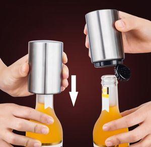 뜨거운 스테인레스 스틸 맥주 병 오프너 자동 주방 액세서리 맥주 소다 캡 레드 와인 병따개 바 용품 주방 도구 DHL
