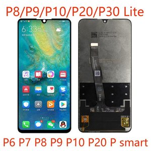 50pcs High-Quality Mobile Phone LCD Touch Screen Assembly panels For Huawei P Smart P7 P8 P9 P10 P20 Lite Repair And Replacement DHL