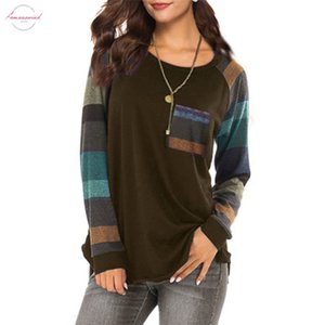 Fashion Woman S 2019 Female Clothing Elegant Stripe Casual Top T Shirt Ladies Loose Women Tops Long Sleeve Top