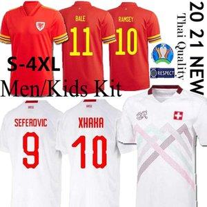 2020 Coupe d'Europe Suisse maillots de football 20 21 BALE ALLEN Pays de Galles Camiseta de Fútbol émbolo SEFEROVIC RODRIGUEZ maillots de football-4XL