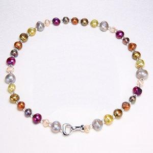 Daimi colore misto perla fai da te collana naturale barocca perla gioielli regalo per le donne J 190429