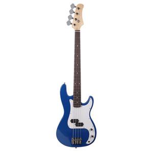 Новый изысканный синий 4-струнный электрический бас-гитара горящий огонь в стиле корабль из США
