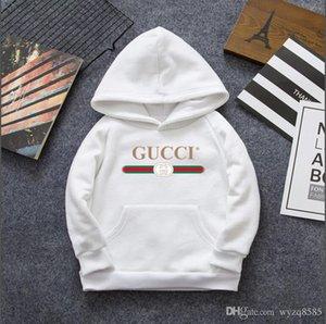 Marca Ropa para niños Sudadera con capucha para niños Suéter de manga larga Suéter con estampado de suéter para niños y niñas Blanco Negro Rojo Talla 100-140