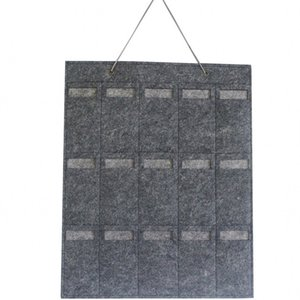 Multi bolso Hanging Wall Hanger feltro Cores sólidas Sunglass colar brincos anéis jóias saco de armazenamento Início Organizador Fit 10lx interior E19
