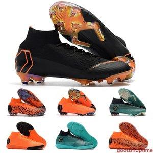 Men CR7 Melhor Elite Ronaldo KJ VI 12 360 FG Soccer Shoes Football Boot Mercurial Superfly Cristiano Ronaldo FG Socce Shoes Cleats 39-45