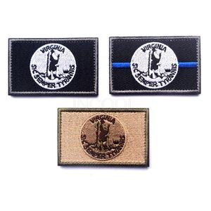 100 шт Вирджиния государственный флаг вышивка патч США американские флаги мораль патч тактическая эмблема значки вышитые патчи Оптовая торговля