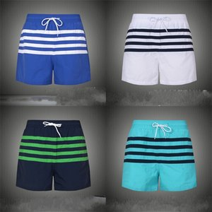Man Summer Beach Pants Stripe Soft Leisure Shorts Loose Blue Patchwork Five Points Trousers Breathable White Blue Green High Quality 27mg D1
