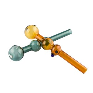 Colorful Glass Crack Oil Burner Smoking Pipe Dab Rig Hookah Glass Bong Tool For Oil Rig Ash Catcher Bubbler smoking Straw Glass Bong