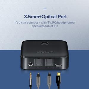 Yeni öğe Bluetooth 5.0 Alıcı Verici Tv Kulaklık Optical'ın 3,5 mm SPDIF Bluetooth AUX Ses Alıcı Adaptörü için 4.2 aptX HD